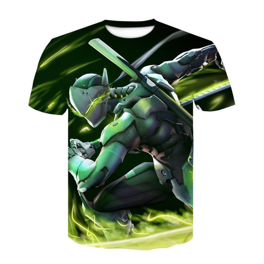 "Digital print short sleeve 3DT shirt, the latest ""Overwatch"" cosplay round neck short sleeve shirt fashion casual T-shirt 4"