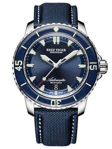 Dial Dive Watches Tiger/rt Super-Luminous Mens Blue New Strap Reloj Nylon RGA3035 Analog