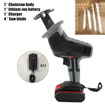 18V Cordless Reciprocating Saw 4 Saw Blades Metal Cutting Wood Tool Portable Woodworking Cutters With Battery 3000spm Power Tool