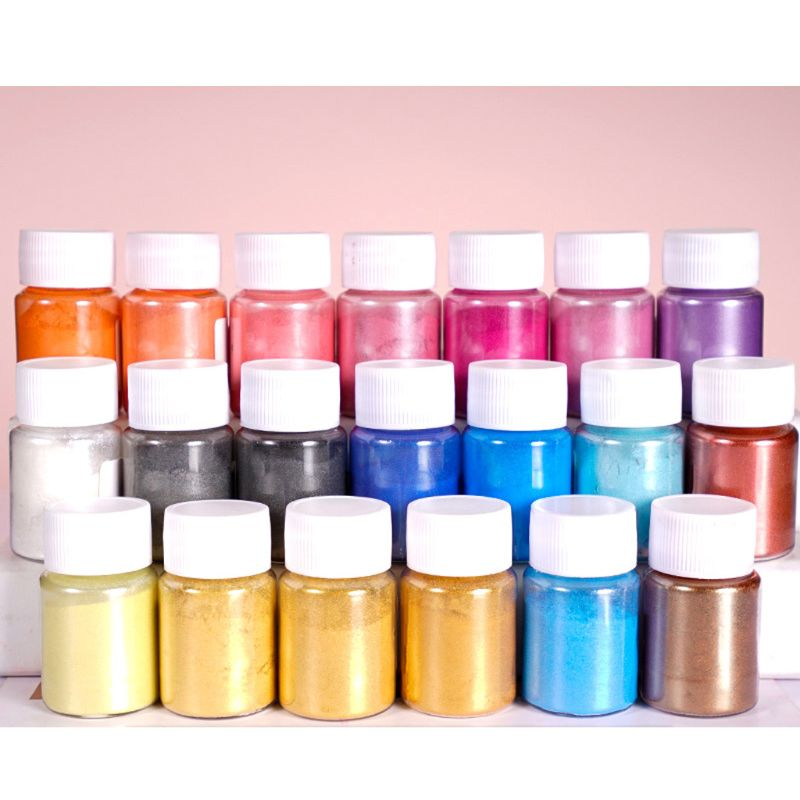 21 Colors Aurora Resin Mica Pearlescent Pigments Colorants Resin Jewelry Making Accessories