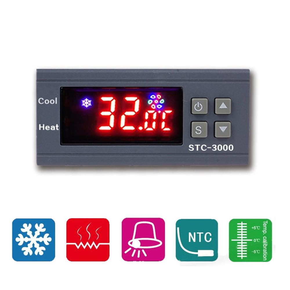 STC-3000 High Precision 12V 24V 220V Digital Thermostat Temperature Controller Thermometer Sensor Hygrometer