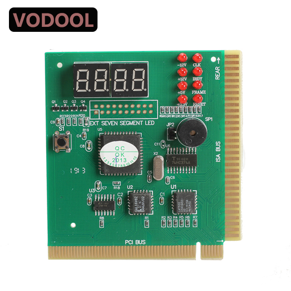 VODOOL 4-Digit LCD Display PC Analyzer Diagnostic Post Card Motherboard Post Tester Indicator With LED For Mian Board