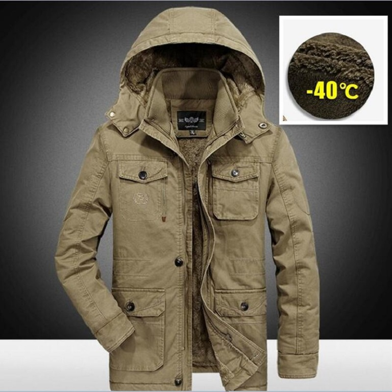 Зимняя мужская куртка, парка, Верхняя теплая водонепроницаемая куртка большого размера, 2019 Толстая Мужская плотная шерсть, мужское зимнее пальто, флисовая хлопковая стеганая|Парки| | АлиЭкспресс