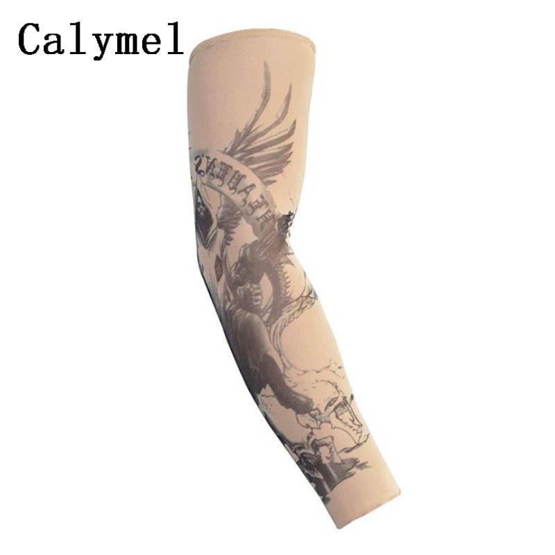 Calymel Anti-Sunshine Fashion Unisex 1 Pair Tattoo Arm Leg Sleeves High Elastic Nylon Warmer Sleeves тату рукав