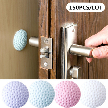 150PCS Wall Thickening Mute Door Fenders Golf Styling Rubber Fender Handle Door Lock Protective Pad Protection Home Wall Sticker