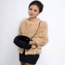 купить Natural Leather Bag Rabbit Hands Muff Portable Real Hair Hand Warm Fur Muff Dual-purpose Satchel дешево