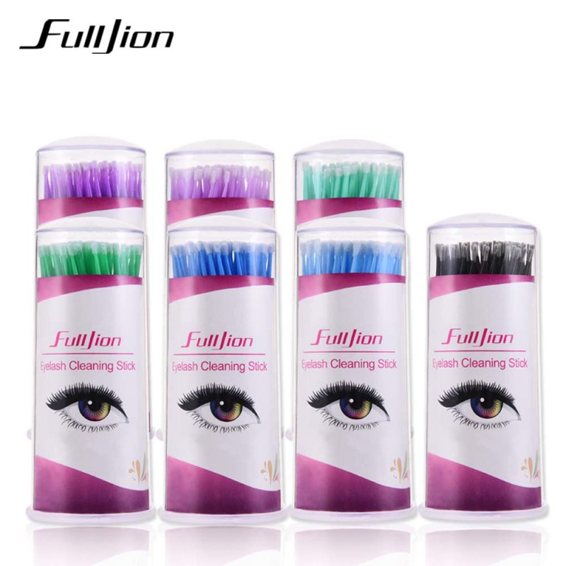 FULLJION Grafting Eyelash Special Cotton Swab Makeup Cleaning Stick Disposable Cotton Swab Bottle Cotton Swab Tattoo Tool
