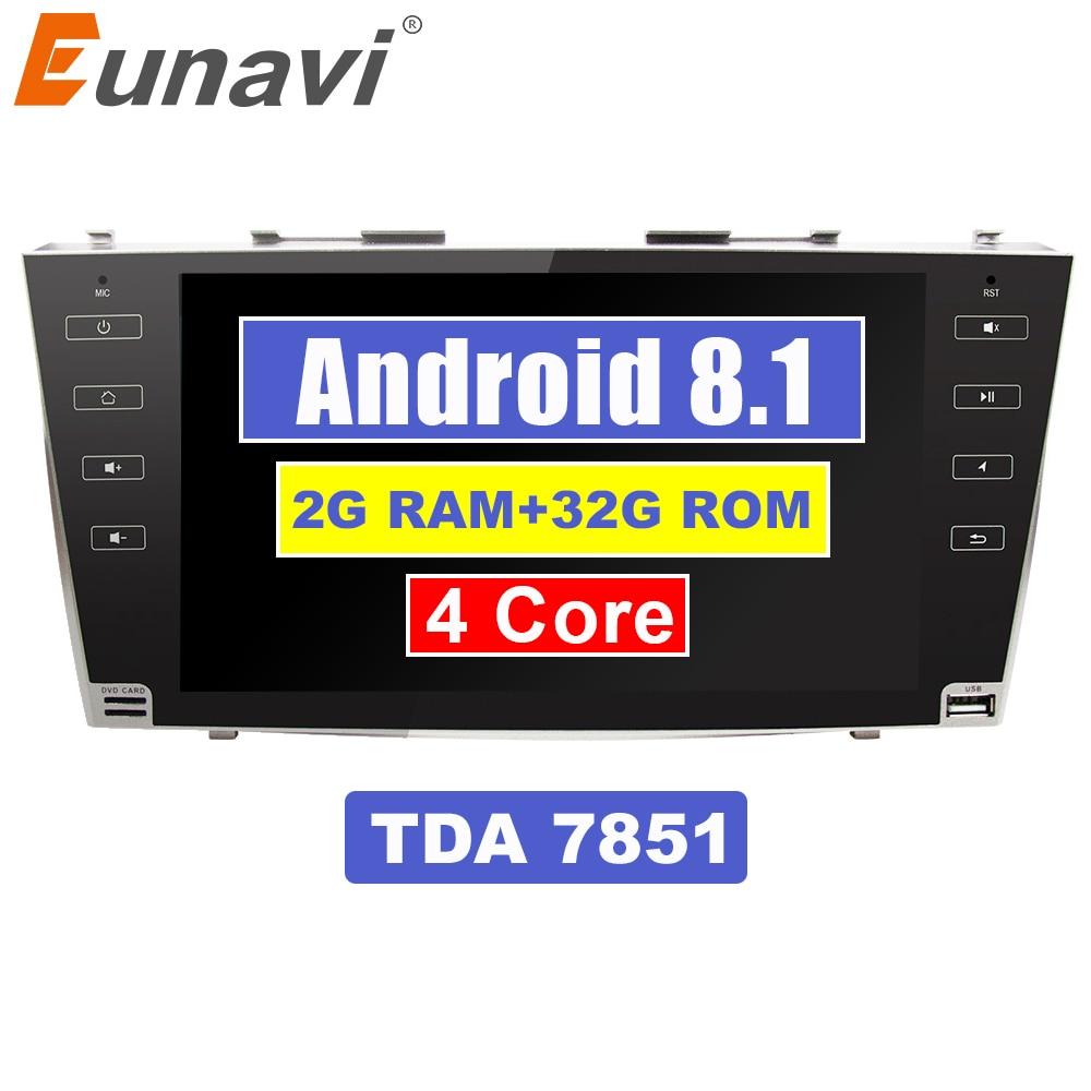 Eunavi 9 1024*600 2 din Android 8,1 автомобиль радио gps стерео для toyota camry 2007 2008 2009 2010 2011 2din bluetooth wifi RDS usb