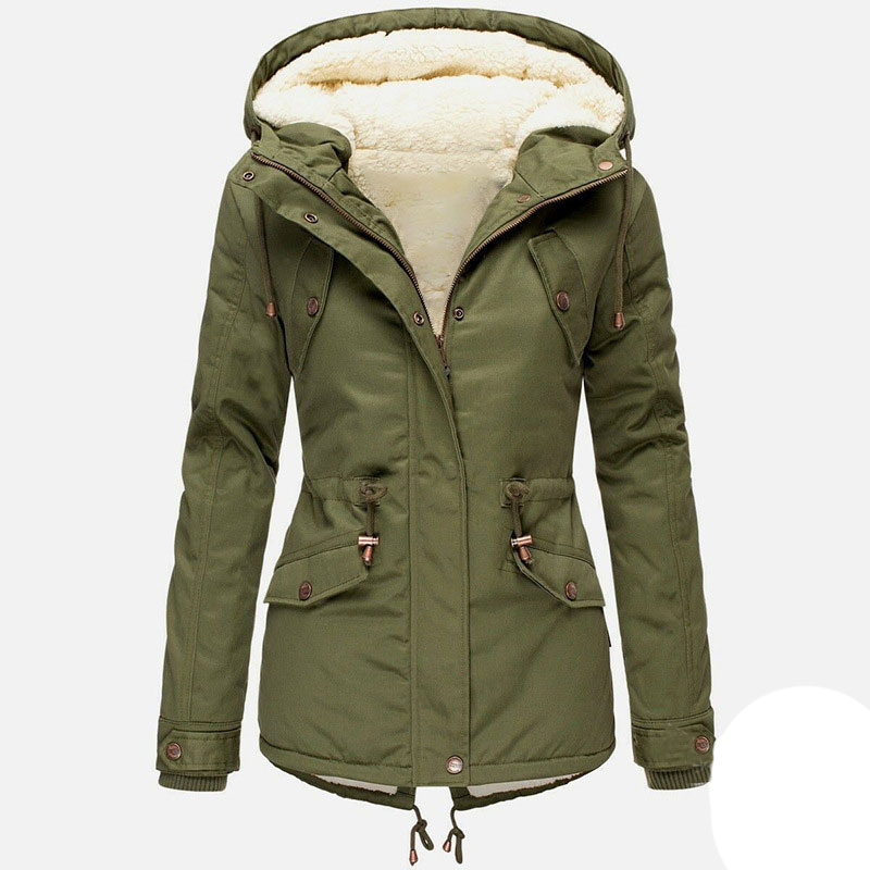 Winter Female Cotton Thick Women Jacket Coat For Ladies Plus Full Sleeve Velvet Woman Pocket Jacket Dropshipping title=