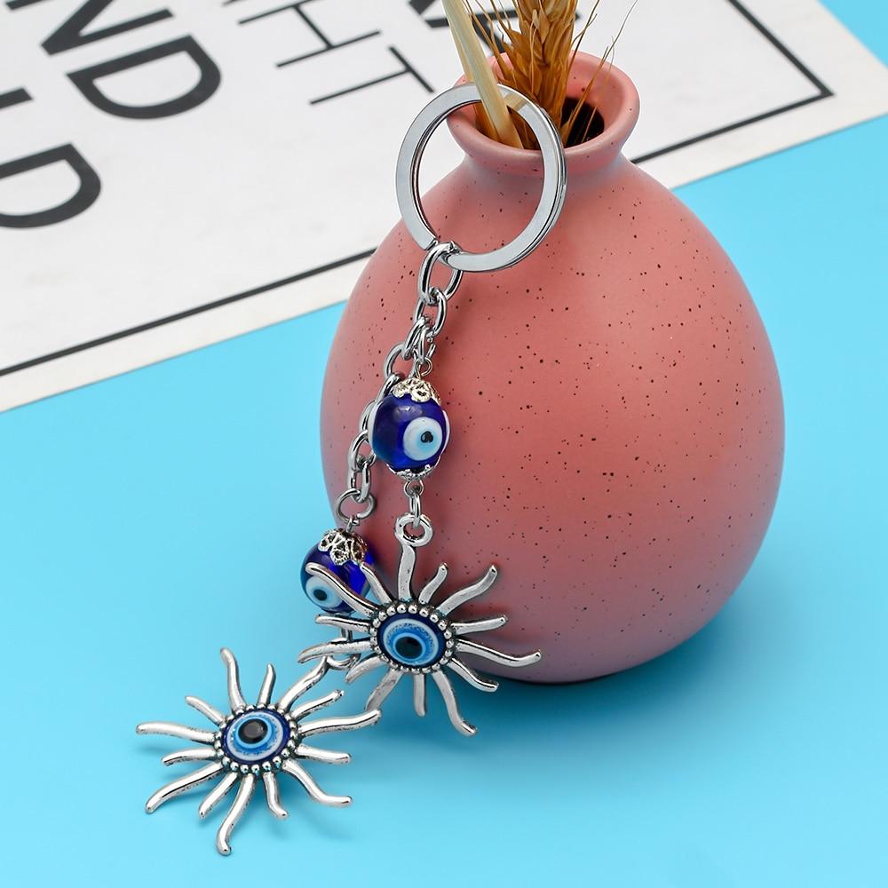 Llavero Sun Llavero Evil Eye Bead Lucky Gift Accesorios de joyería - Bisutería - foto 5