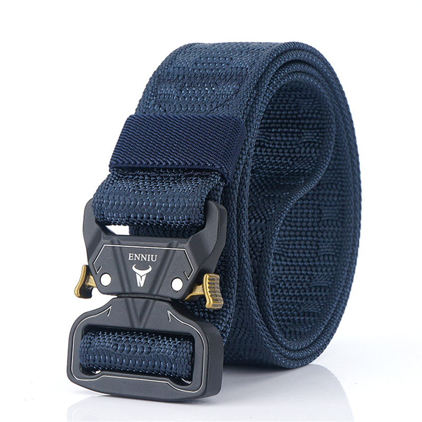 3.8CM Width Outdoor Safety Belt For Jeans Pants Quick-drying True Nylon Training Belts Quick Release Buckle Canvas Men Belt Gift