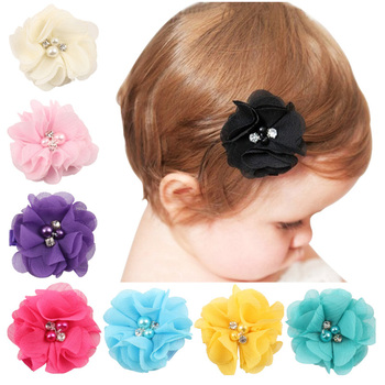 10 Pcs Baby Girl Hair Clips Accessories for Toddler Kids Children Girls Hair Bands Solid Flower Barrettes Clipper Pins Wholesale