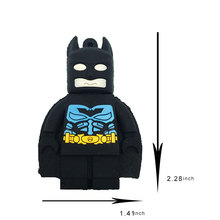 USB Flash Drive 4GB 8GB 16GB 32GB 64GB 128GB Catoon Batman Disk Memory Stick Mini Key Pen Card U