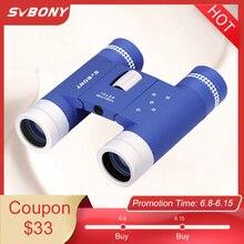 SVBONY Compact 10x25 Binoculars Folding BK7 Roof Prism Telescope Adult Children for Sporting Events SV204 Outdoor Indoor