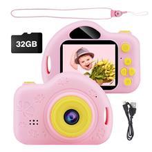 Kids Camera Toys HD 1080P Digital Photo selfie Video Camera Children Gift Digital Zoom Camcorder with Flash Memory Card