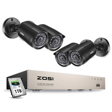 ZOSI Cctv-System Dvr-Kit Security-Camera Outdoor Home-Video Weatherproof 4PCS 720p/1080p