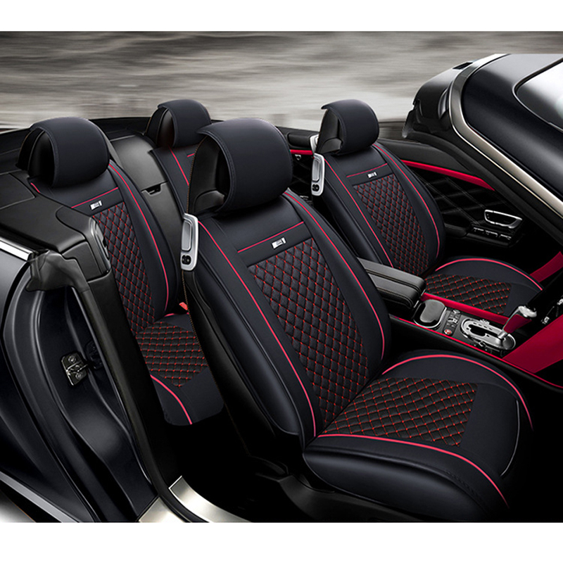 WLMWL Couro Universal tampa de assento Do Carro para Peugeot 206 307 407 207 2008 3008 508 208 308 406 301 todos os modelos de acessórios de carro - 5