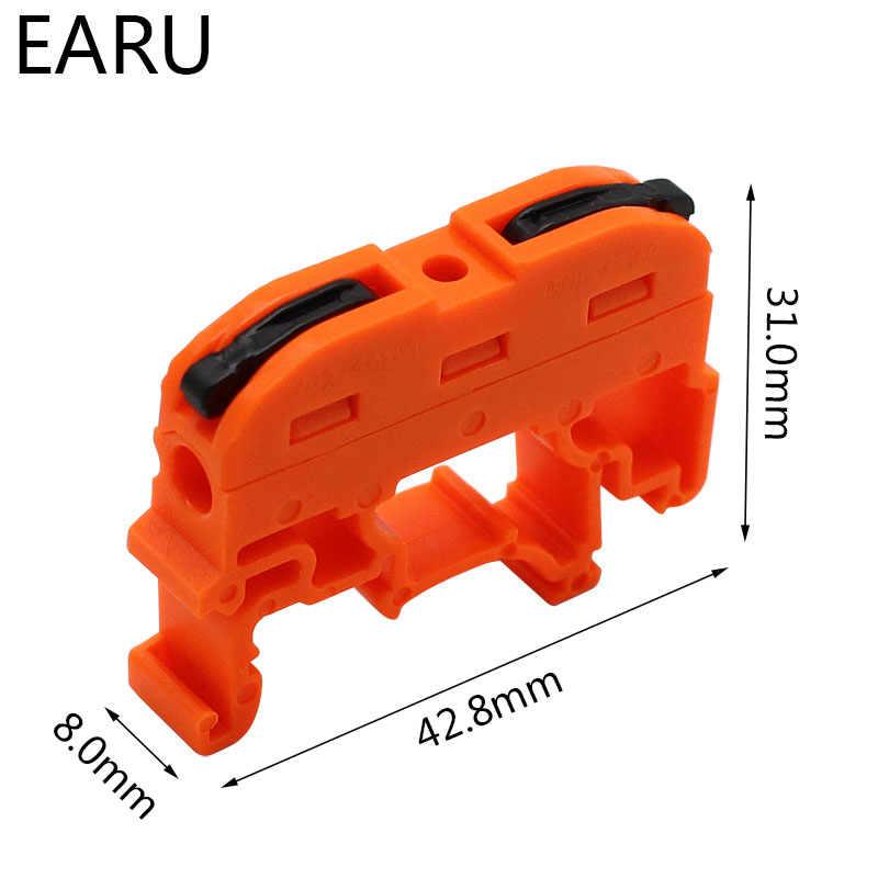 SANON 10Pcs Pct-211 Conector de Cable Tipo Carril 0 2-4Mm/² Presione El Bloque de Terminales de Cableado R/ápido