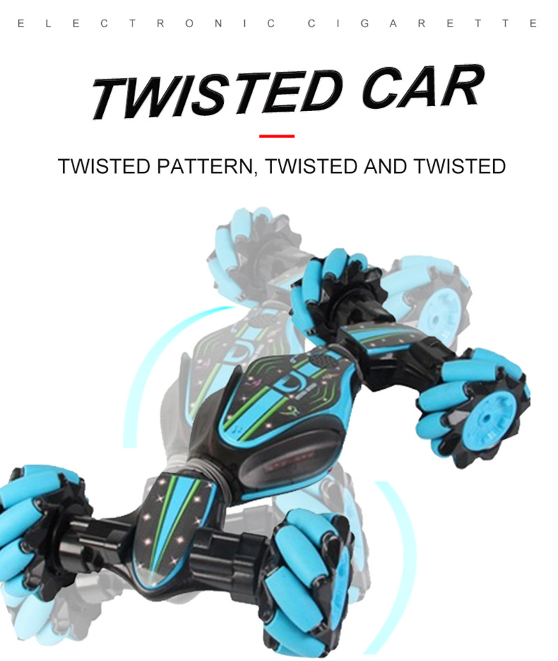Twisted RC Car Off-Road Vehicle Stunt Gesture Remote Control Drift Light Music Drift Dancing Double Side Driving Stunt Car Gesto