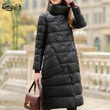 2019 fashion Down Jacket Women Winter Outerwear Coats Female Long Casual solid Light ultra thin Warm Down puffer plus size s-3xl цены онлайн