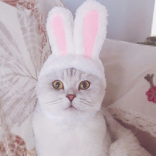 Funny Dog Pet Bunny Rabbit Ears For Cat Small Dogs Kitten Party Photos Props Accessories