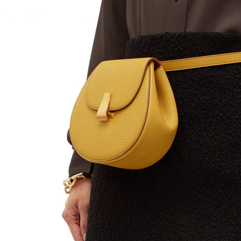 Luxury Leather Waist Bag Women Messenger Bags New Saddle Bag Small Cross-body Pack Female Fanny Pack Belt Pack Bolso Mujer