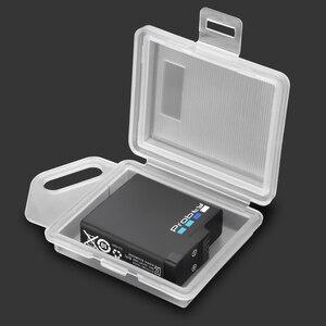 Image 2 - עבור GoPro גיבור 9 8 7 6 5 סוללה מגן אחסון תיבת 4 צבעים לבן שחור אדום כחול לxiaomi יי מצלמה אבזרים
