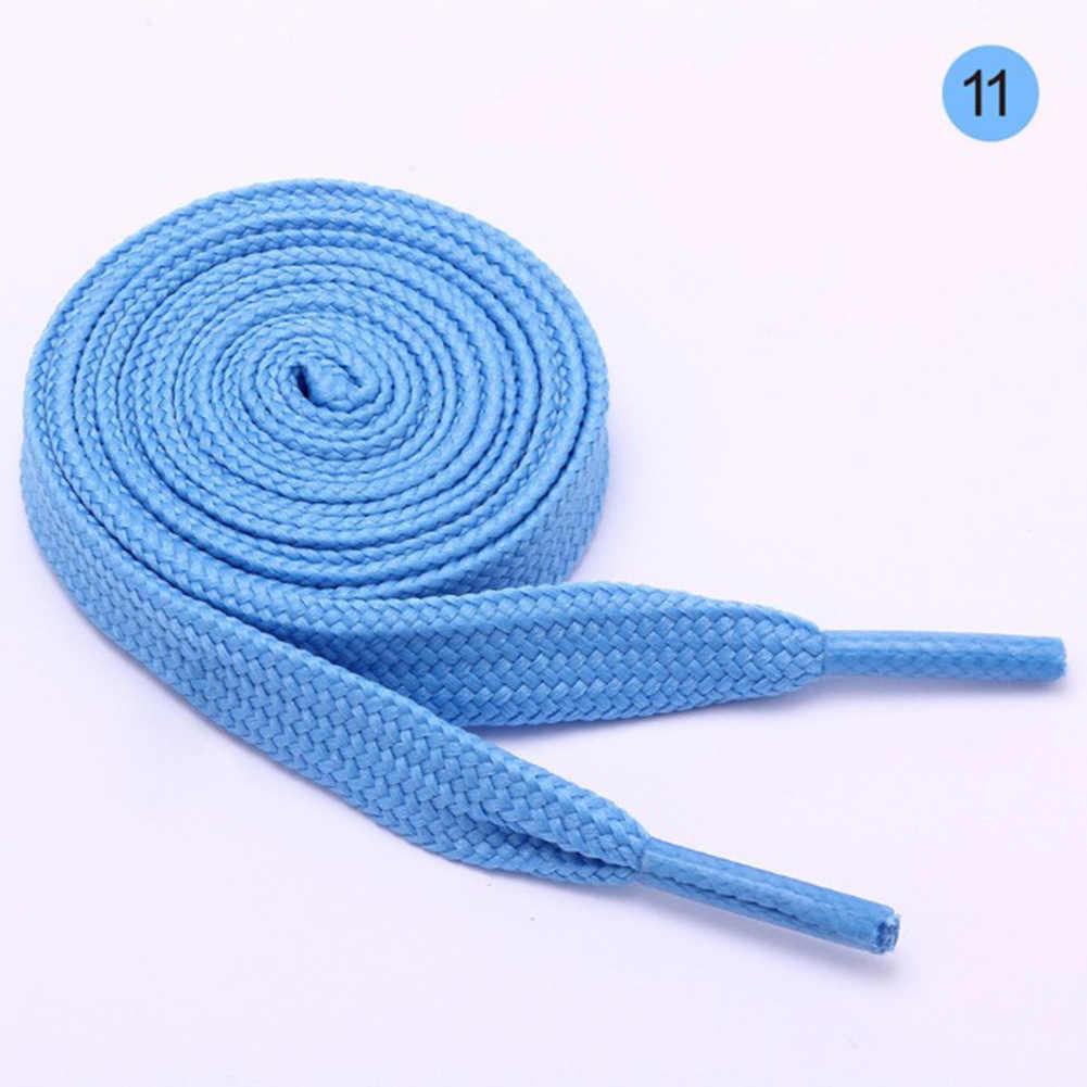1 paar Flache Beiläufige Shoeslaces Elastische Unisex Einfarbig Schuh String Frauen Männer Polyester Leinwand Schnürsenkel Mode Schnürsenkel 100cm