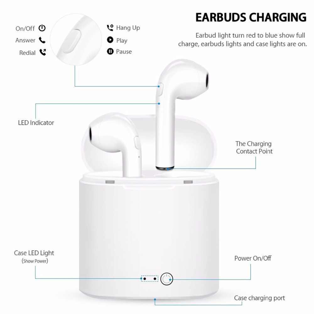 I7s Tws Sport zestaw głośnomówiący słuchawki Bluetooth Mini bezprzewodowy słuchawki bezprzewodowy zestaw słuchawkowy z okno ładowania dla wszystkich smartfonów