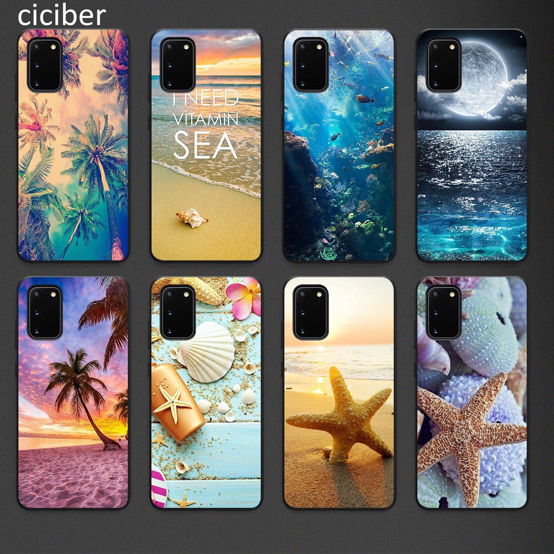 Beach Phone Case For Samsung A50 A40 A70 A51 A71 A20 A20E S10 S20 S9 S8 S7 Edge Ultra Puls Note 10 9 8 Plus Cases Matte Soft