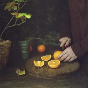 Image 2 - 歳木製ラウンドまな板レトロ家の装飾食品の写真撮影の小道具ピザパン果物ヴィンテージ農村