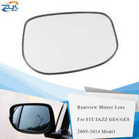 ZUK Left Right Outer Rearview Side Mirror Glass Lens For HONDA FIT JAZZ GE6 GE8 FIT HYBIRD GP1 2009 2010 2011 2012 2013 2014