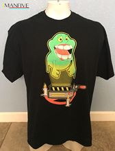 Rare Ghostbusters SLIME Game Over Cartoon Print Black T-Shirt Size 2XL XXL Free shipping  Tops t shirt Fashion Classic Unique