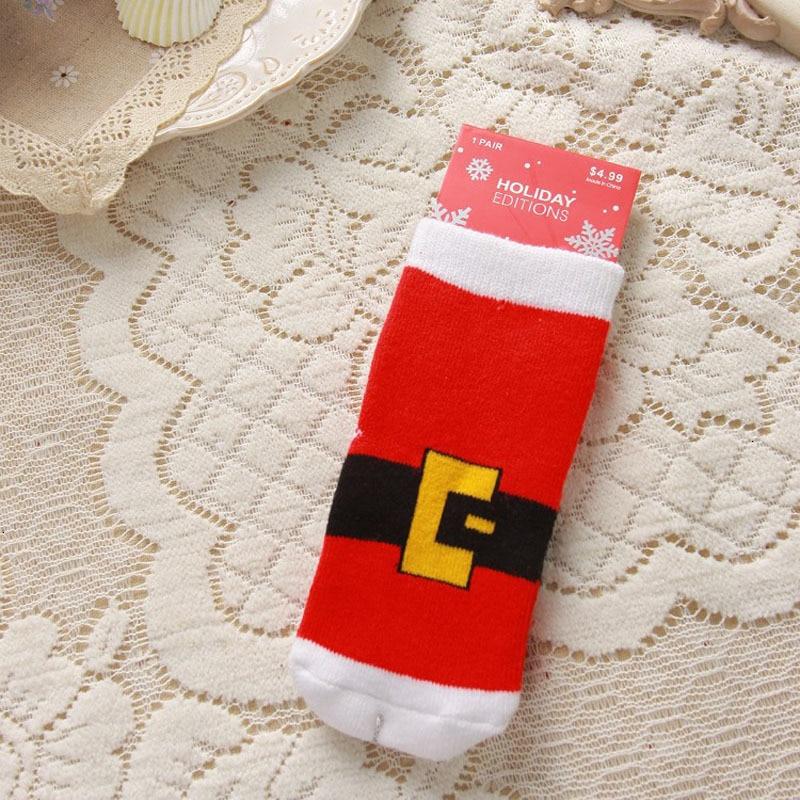 2021 Kids Socks Cute Christmas Sock Santa Deer Children Socks Newborn Meias Infantil Toddler Boys Girls Sock Xmas Kid Clothes 3