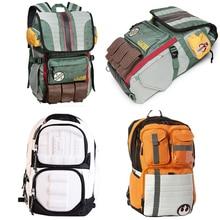 Star Wars Backpacks Yoda Boba Fett Laptop Men Backpack Vintage Travel Bags Games Movies Anime Male Bags