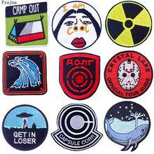 Prajña Hippie Band Rock Patch Streep Ijzer Op Geborduurde Patches Voor Kleding Anime Grappig Kamp Patch Foto Stickers Op Kleding(China)