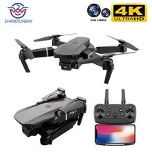 SHAREFUNBAY E88 pro drone 4k HD podwójny aparat wizualne pozycjonowanie 1080P WiFi dron fpv wysokość zachowanie zdalnie sterowany quadcopter tanie tanio Stałe do montażu kamery Z tworzywa sztucznego 3*1 5v AA CN (pochodzenie) Wewnątrz i na zewnątrz 1080p FHD 720P HD 2K QHD