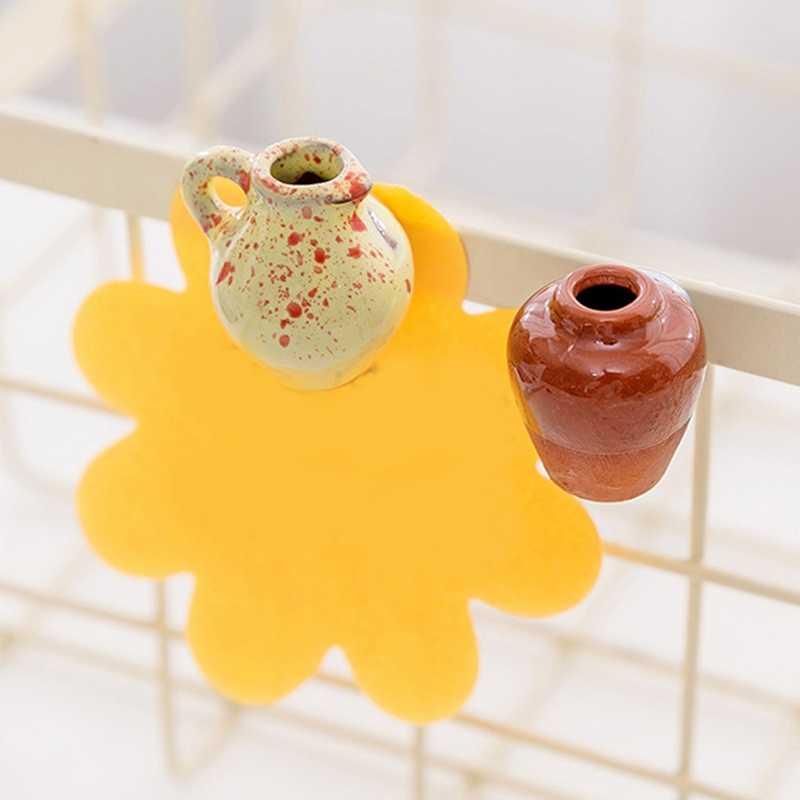 مصغرة السيراميك زهرية سحابة مغناطيس الثلاجة DIY مزهرية من البورسلين الثلاجة المغناطيس رسالة ملصق الأخضر النبات على المطبخ هدية