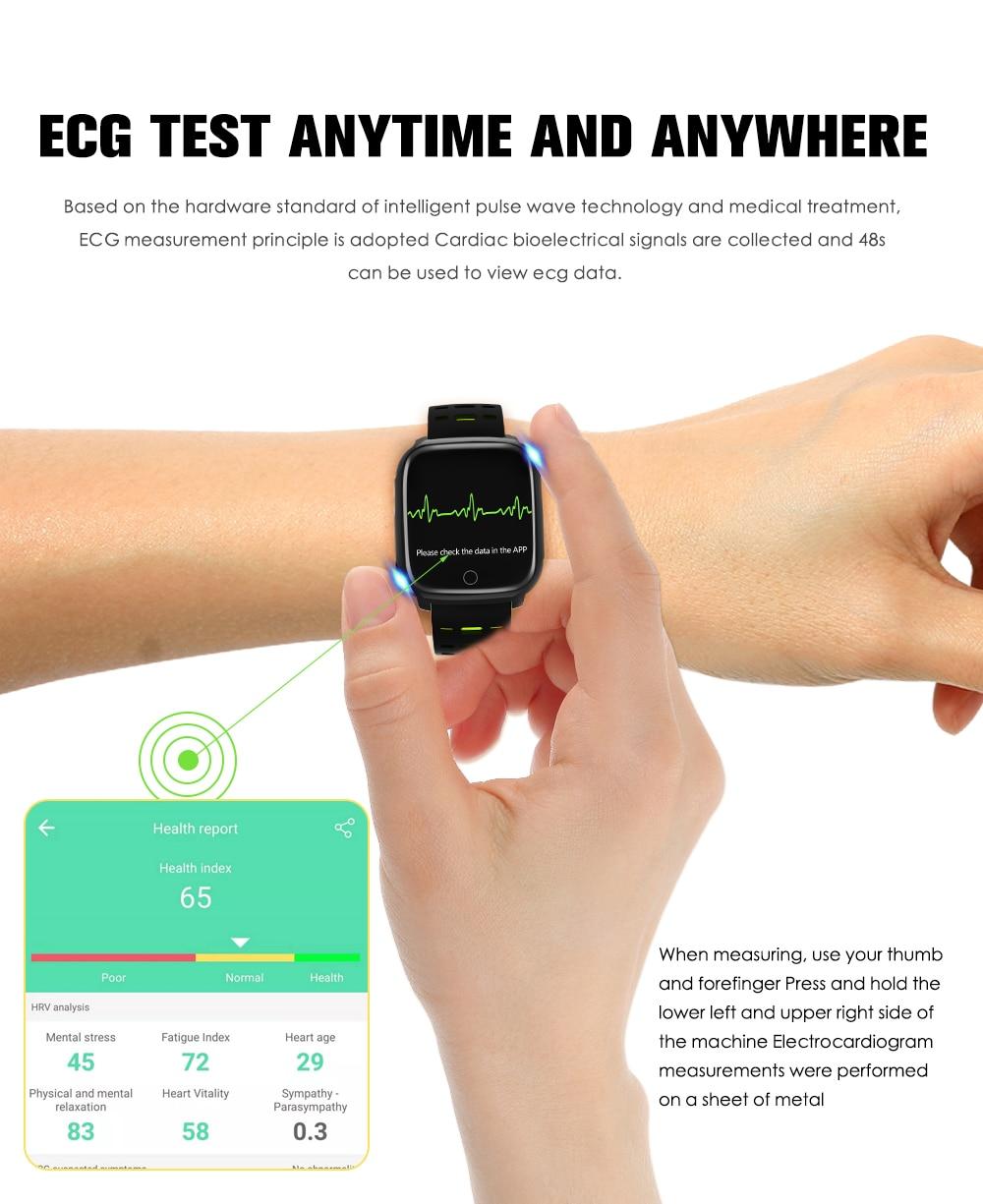 696 f16 inteligente pulseira ecg + ppg