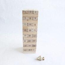 48pcs/set Building Blocks Jenga Blocks Folds High Block Toys Family/Party Best Gift for Children 0113 building blocks the best gift for child