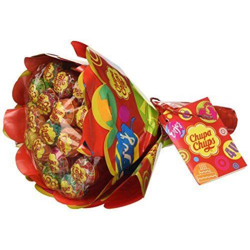 Chupa Chups Lecca Lecca Flower Bouquet, Lollipop Frutti Assortiti Gusto Limone, Arancia, Fragola, Mela, Anguria E Ciliegia, 19