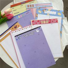 30 folhas dos desenhos animados cereja urso caderno b5 bloco de memorando kawaii estudante plano de aprendizagem lista de palavras para fazer lista semanal planejador papelaria