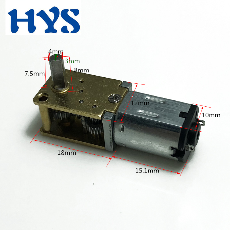 2PCS DC3V~6V 60RPM 10MM Micro Planetary Gearbox Gear Reducer Motor for Robot DIY