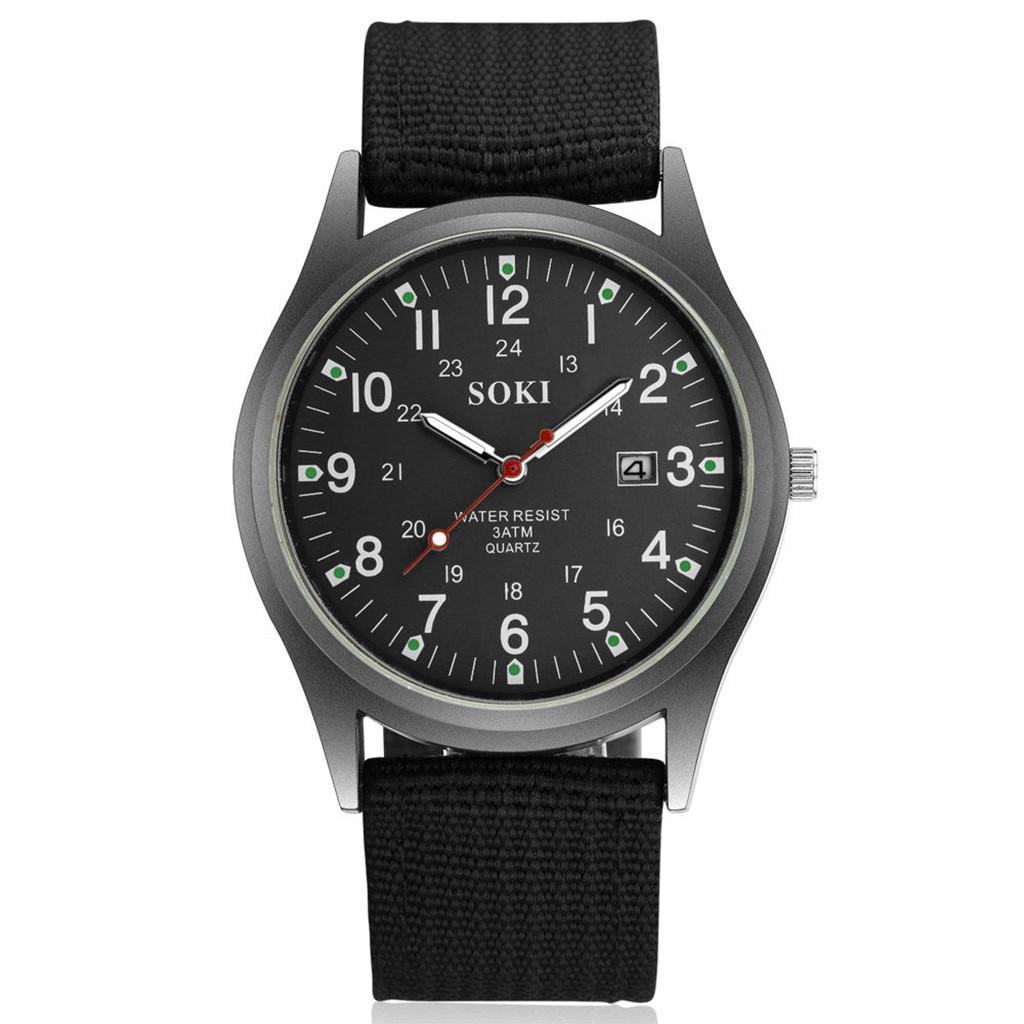 Men Watches Nylon New Trend SOKI Simple Fashion 2019 New Woven Nylon Belt Men's Calendar Watch Reloj Mujer Relogio Feminino