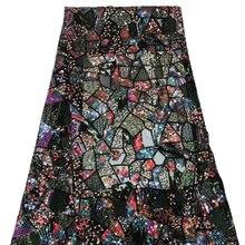 Фиолетовый последние Африканские кружева ткани шелк Высокое качество Нигерия бусины французский для вечерние платья материал Z531