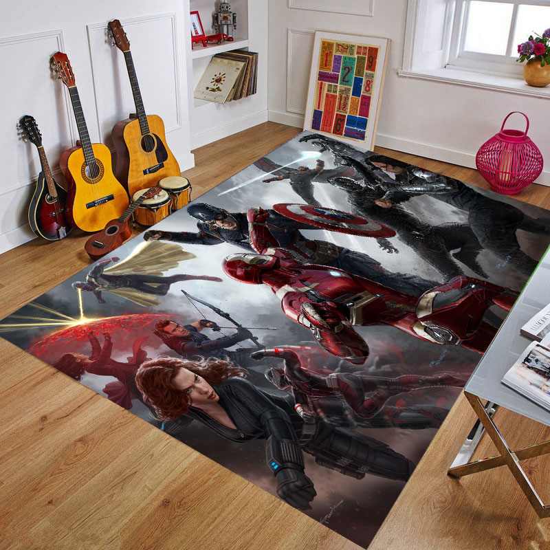 Multiple Sizes Baby Playmat Hero Carpet  Mat  Spiderman Iron Man Captain America Rug Birthday Gift Mats For Kids