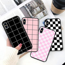 Dambord Plaid Che Zwart Tpu Soft Silicone Phone Case Cover Voor Iphone 11 8 7 6 6S Plus X xs Promax 5 5S Se Xr Cover(China)