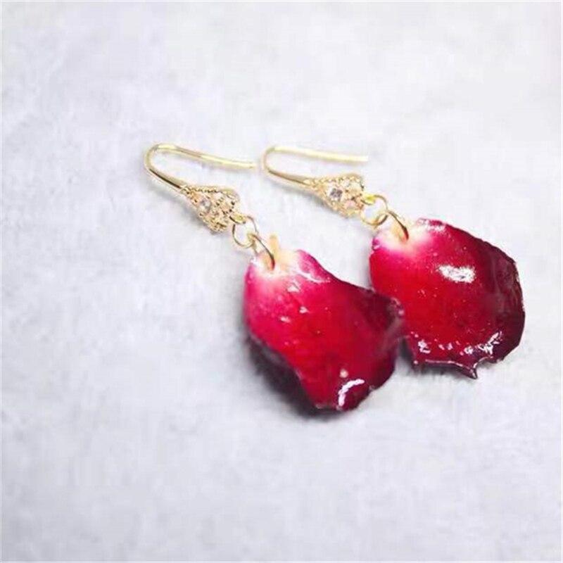 customized earings   womens earrings in jewelry   drop earrings    Flowers court earrings Handmade Vintage rose earrings