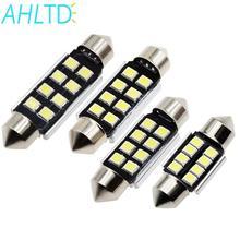 цена на 2pcs Car Led Light 36mm 39mm 41mm 2835 SMD 8 Chips CANBUS Festoon C5W C10W Auto Lamp Bulb Interior Lights White DC 12V