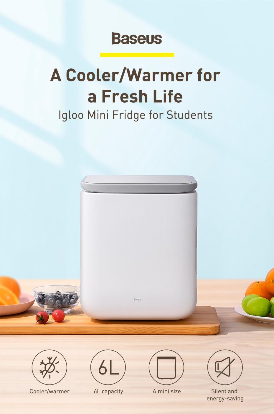Baseus Igloo Mini Fridge for Students 6L 7